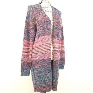Gap Open Cardigan Sweater Marled Soft Knit Large